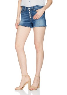 Hudson Jeans Women's Zoeey High Rise Exposed Button Cut Off Jean Shorts