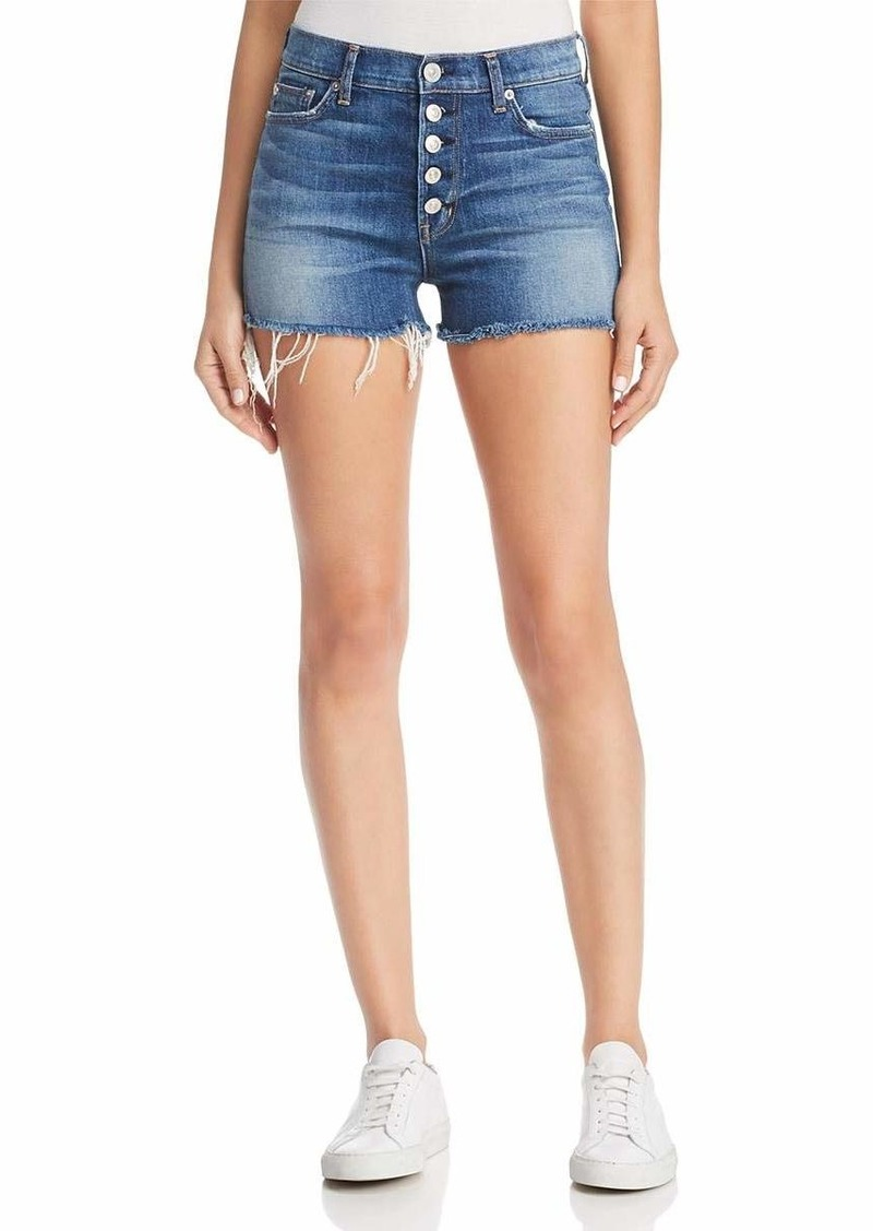 Hudson Jeans Women's Zoeey HIGH Rise Exposed Button Cut Off Jean Shorts DOLLFACE