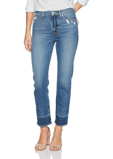 Hudson Jeans Women's Zoeey High Rise Straight + Released Raw Hem Jeans