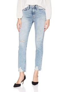 Hudson Jeans Women's Zoeey HIGH Rise Straight Crop 5 Pocket Jean dip Out