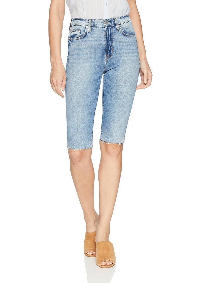 Hudson Jeans Women's Zoeey HIGH Rise Straight Cut Off Boyfriend Jean Short just for Kicks