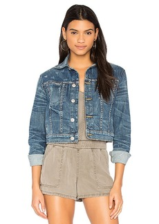 Hudson Jeans x REVOLVE Garrison Cropped Denim Jacket. - size L (also in M,XS)
