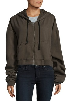 Hudson Jeans Zippered Cropped Hoodie