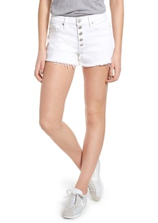 Hudson Jeans Zoeey Button Fly High Waist Denim Shorts