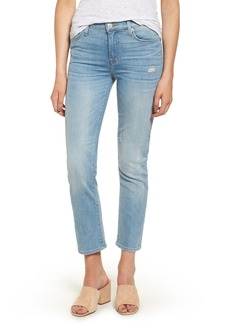 Hudson Jeans Zoeey Crop Straight Leg Jeans (Aura)