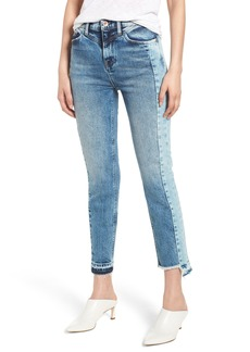 Hudson Jeans Zoeey Front Yoke High Waist Ankle Straight Leg Jeans (Dawson)