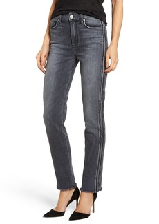 Hudson Jeans Zoeey High Waist Ankle Straight Leg Jeans (Lethal)