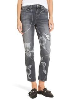 Hudson Jeans Zoeey High Waist Crop Straight Leg Jeans