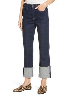 Hudson Jeans Zoeey High Waist Crop Straight Leg Jeans (Revive)