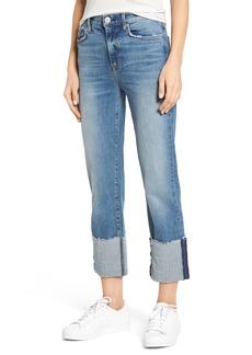 Hudson Jeans Zoeey High Waist Crop Straight Leg Jeans (Surge)