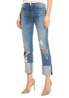 Hudson Jeans Zoeey High Waist Crop Straight Leg Jeans (Test Me)