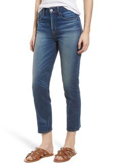Hudson Jeans Zoeey High Waist Crop Straight Leg Jeans (Undenied)