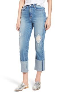 Hudson Jeans Zoeey High Waist Cuff Straight Leg Jeans (Better Half)