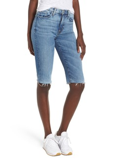 Hudson Jeans Zoeey High Waist Cutoff Boyfriend Shorts (Just for Kicks)