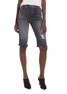 Hudson Jeans Zoeey High Waist Cutoff Boyfriend Shorts (Malice)