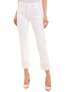 Hudson Jeans Zooey Stepped White High-Rise Straight Crop