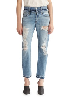 Hudson Jeans Hudson Jessi Relaxed Cropped Jeans with Destruction