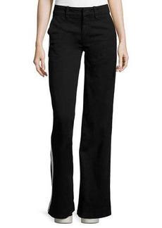 Hudson Jeans Hudson Joplin Wide-Leg Trousers w/Track Stripe