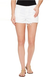 Hudson Jeans Kenzie Cut Off Five-Pocket Shorts in White