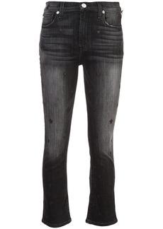 Hudson Jeans Hudson kick flare high rise cropped jeans - Black