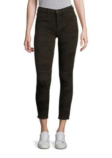 Hudson Krista Camo Skinny Ankle Jeans