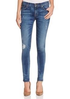 Hudson Krista Slight Destruction Skinny Jeans in Fierce