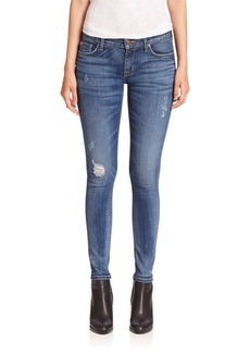 Hudson Krista Slight Distressed Super Skinny Jeans