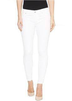 Hudson Krista Super Skinny Crop Five-Pocket Jeans in White