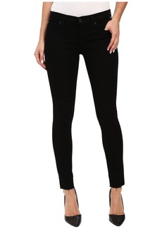 Hudson Krista Super Skinny with Raw Hem in Black in Raven