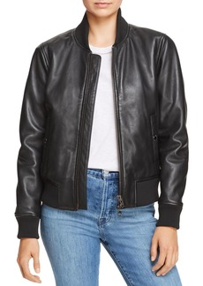 Hudson Jeans Hudson Leather Bomber Jacket