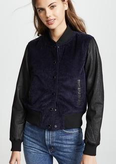 Hudson Jeans Hudson Leather Cord Varsity Bomber