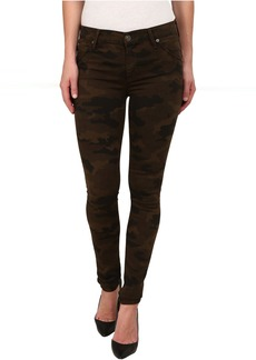 Hudson Lilly Mid Rise Ankle Skinny w/ Flap Jeans in Combat Combo