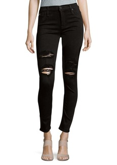 Hudson Lilly Mid-Rise Distressed Skinny Ankle Jeans
