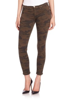 Hudson Lily Mid-Rise Camo-Print Skinny Ankle Jeans