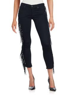Hudson Luna Fringe Cropped Jeans
