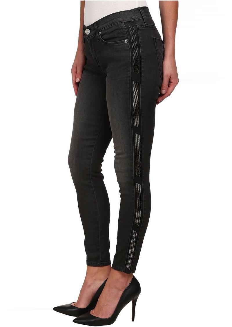 Hudson Jeans Luna Skinny Black Wash Jeans in Atlas