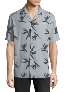 Hudson Jeans Hudson Men's Camp-Collar Printed Short-Sleeve Sport Shirt
