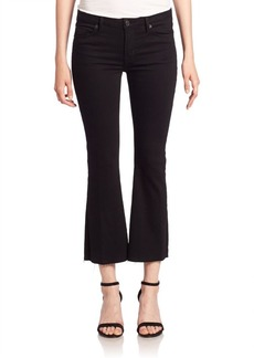 Hudson Mia Black Cropped Flare Jeans