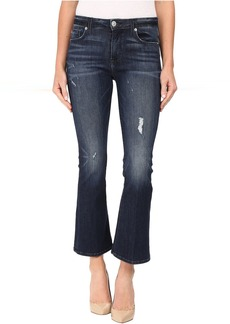 Hudson Jeans Hudson Mia Crop Flare in Electric Clover Destructed