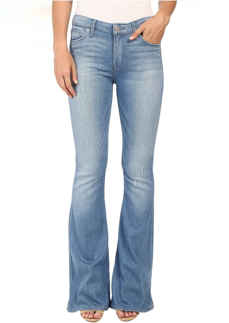 Hudson Jeans Hudson Mia Five-Pocket Mid-Rise Flare in Drift