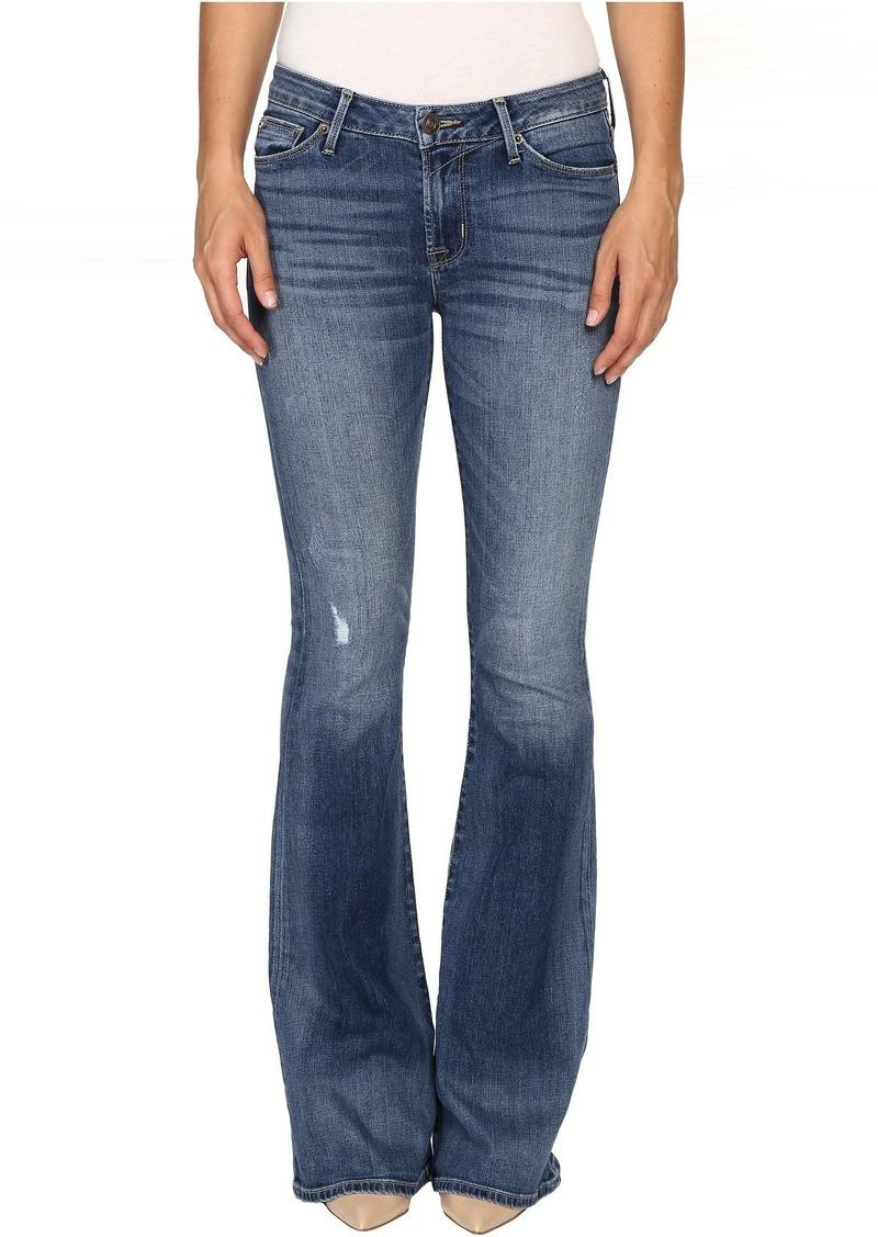 Hudson Jeans Mia Five-Pocket Mid-Rise Flare in Fierce