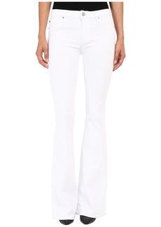 Hudson Jeans Hudson Mia Five-Pocket Mid-Rise Flare in White 2