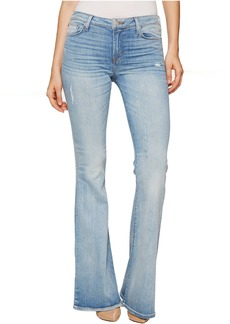 Hudson Jeans Hudson Mia Five-Pocket Mid-Rise Flare Jeans in Aura