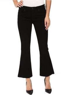 Hudson Jeans Hudson Mia Mid-Rise Five-Pocket Crop Flare Jeans w/ Raw Hem