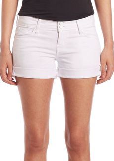Hudson Mia Rolled White Denim Shorts
