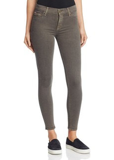 Hudson Mid Rise Ankle Skinny Jeans in Trooper Green