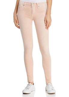 Hudson Mid-Rise Cropped Skinny Jeans in Rosewater