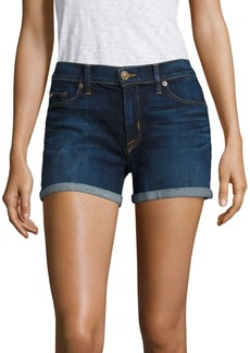 Hudson Jeans Mid Rise Cuffed Shorts