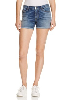 Hudson Mid Rise Cuffed Shorts in Coalition