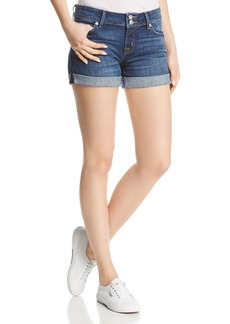 Hudson Jeans Hudson Mid-Rise Denim Shorts in Double Deal